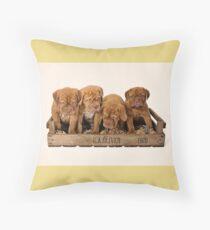 Dogue De Bordeaux Puppies Throw Pillow