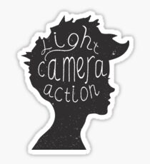 Light. Camera. Action. Cinemaholic. Sticker