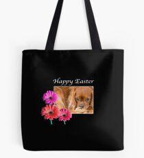 Happy Easter Cavalier King Charles Daisies Tote Bag