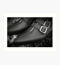 One, Two Buckle my Shoe . . . Black Goth Buckle Boots Art Print