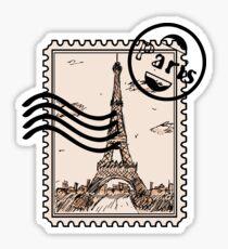 Paris Stamp Sticker