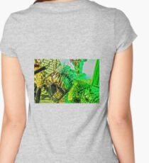 Spiked Green in HDR Women's Fitted Scoop T-Shirt
