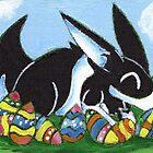 Easter Egg Bunny by KOKeefeArt
