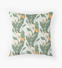dandelion day pattern Throw Pillow