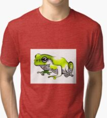 Froggy went a' courting! Tri-blend T-Shirt