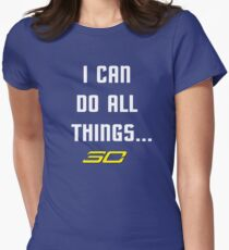 Steph Curry Do All Things Women's Fitted T-Shirt