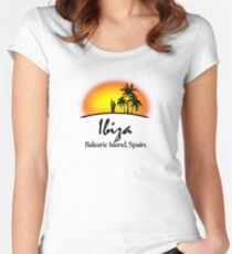 Ibiza, Balearic Island Women's Fitted Scoop T-Shirt