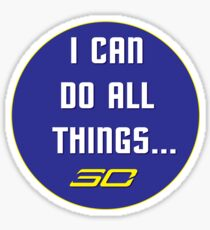 Steph Curry Do All Things [sticker] Sticker