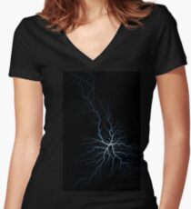 All Roads Lead to Derby #1 Women's Fitted V-Neck T-Shirt