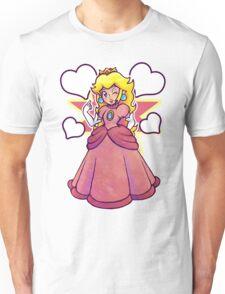 Hearts and Princess Peach Unisex T-Shirt