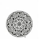Mandala Flower by Ibubblesart