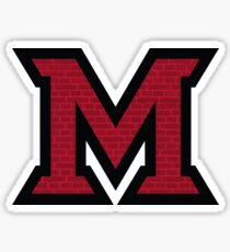 Miami Brick 'M' Sticker