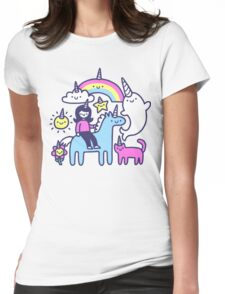 Unicorns Everywhere! Womens Fitted T-Shirt