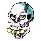 Trap Door Skull Biting Brass Knuckles by BionicWiggly