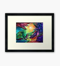 Colours of Sunshine - Leaves  Framed Print