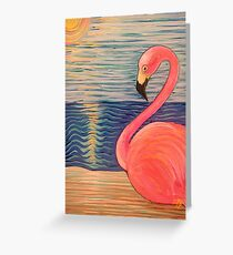 Flamingo Sunset Greeting Card