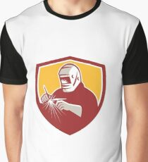 Tig Welder Welding Crest Retro Graphic T-Shirt