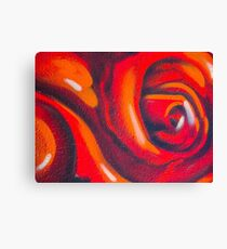 Graffiti Rose Canvas Print