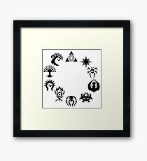 Magic the Gathering Guilds Framed Print