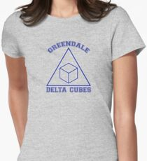 Greendale Delta Cubes Frat Women's Fitted T-Shirt