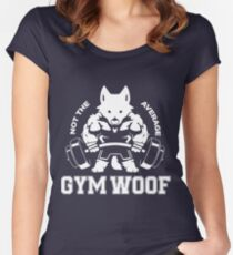 Not the average GYM WOOF Women's Fitted Scoop T-Shirt