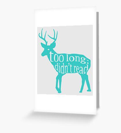 The Teal Deer Greeting Card