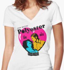 Polyester: Hello Francine! Women's Fitted V-Neck T-Shirt