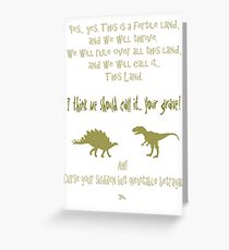 sudden but inevitable betrayal, firefly, olive green Greeting Card