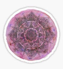Marbled Pink Mandala Sticker
