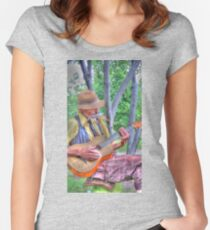 Traveling Troubadour Women's Fitted Scoop T-Shirt
