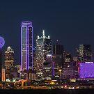 Dallas PURPLE Skyline by josephhaubert