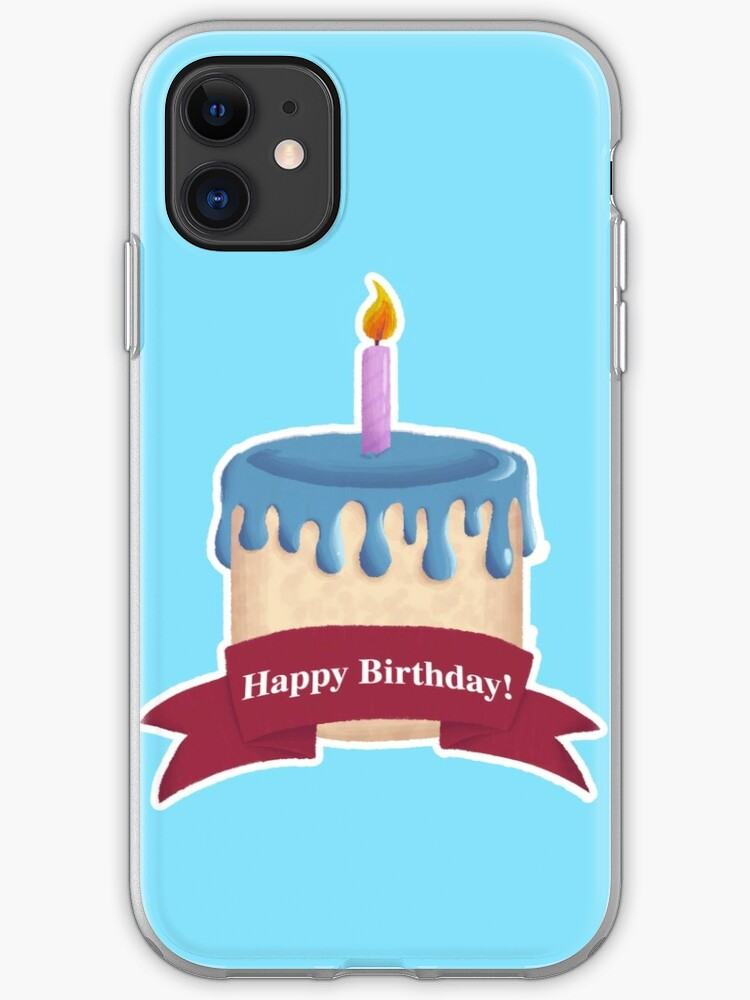Fantastic Happy Birthday Cake Iphone Case Cover By Radiocreations Funny Birthday Cards Online Aeocydamsfinfo