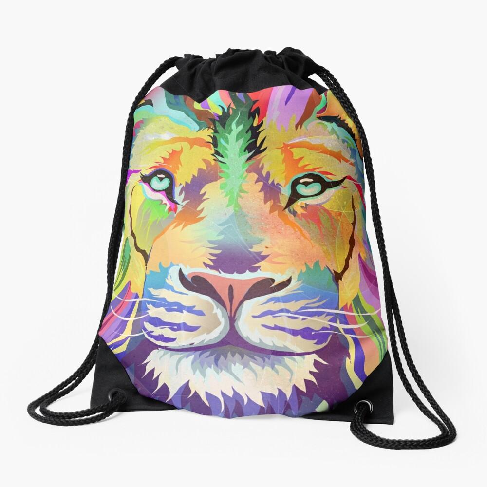 The King of Technicolor Drawstring Bag