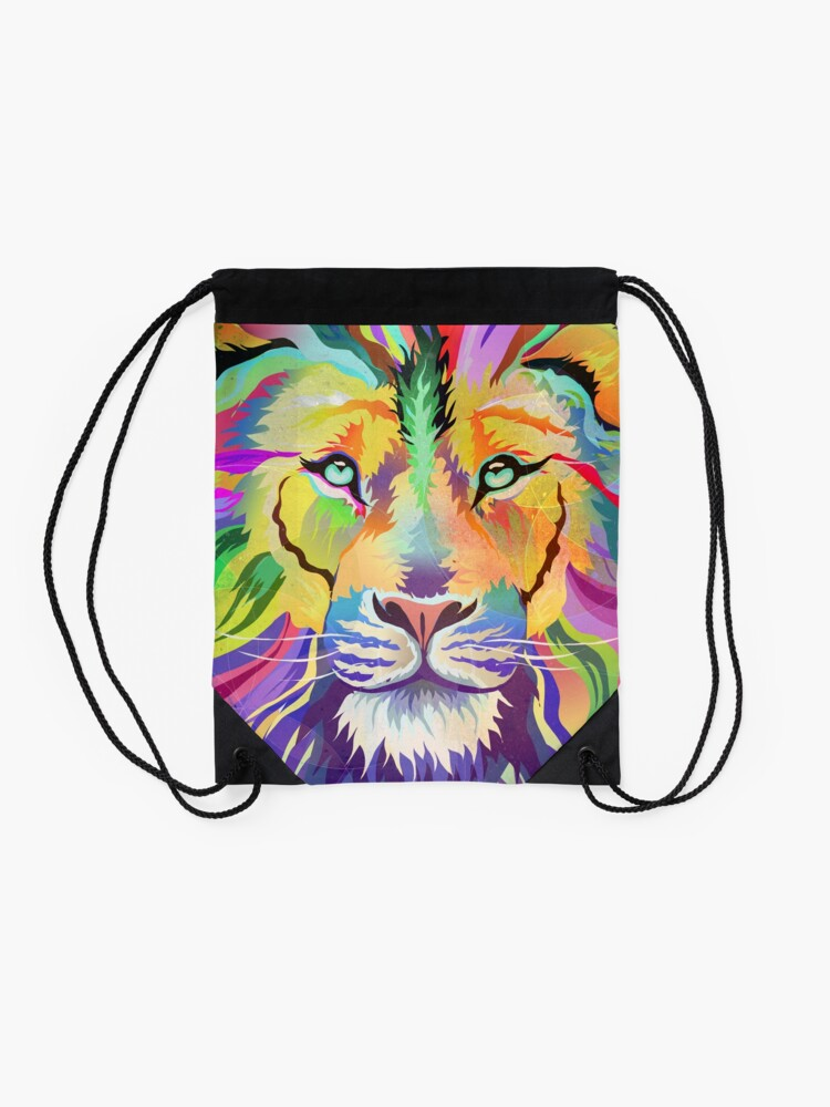 Alternate view of The King of Technicolor Drawstring Bag