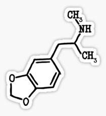 MDMA (ecstasy) - Molecular Structure Sticker