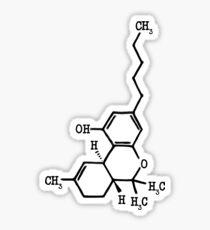 Marijuana - THC Molecular Structure Sticker
