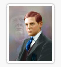 Colorized Vintago Portrait of Young Winston Churchull Sticker