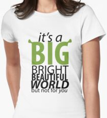 Big Bright Beautiful World- Shrek The Musical Women's Fitted T-Shirt