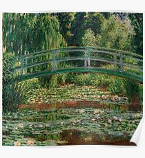 1899-Claude Monet-The Japanese Footbridge and the Water Lily Pool, Giverny-89 x 93 Poster