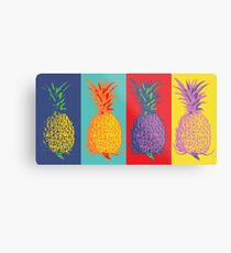 Ananas Pop-Art Metallbild