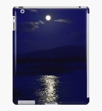 Moon in blue iPad Case/Skin
