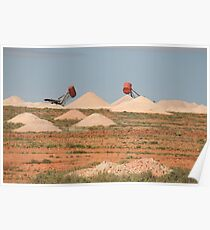 The opal fields, Coober pedy,S.A. Poster