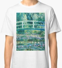 1899-Claude Monet-Water Lilies and Japanese Bridge Classic T-Shirt