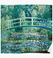 1899-Claude Monet-Water Lilies and Japanese Bridge Poster