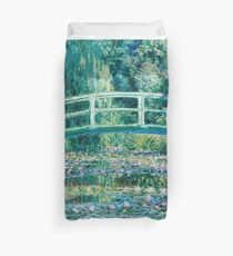 1899-Claude Monet-Water Lilies and Japanese Bridge Duvet Cover