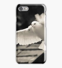 The flight of a white dove iPhone Case/Skin