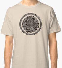 Sunflower Fibonacci Fractal Spiral Classic T-Shirt