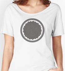 Sunflower Fibonacci Fractal Spiral Women's Relaxed Fit T-Shirt