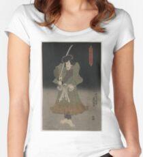 Kunisada Utagawa - Akugenta Yoshihra - 1848 - Woodcut Women's Fitted Scoop T-Shirt
