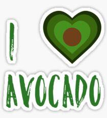 I Heart Avocado Sticker